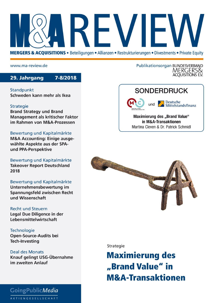 DMFIN Artikel M&A Review 8 2018